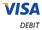 We accept Visa Debit